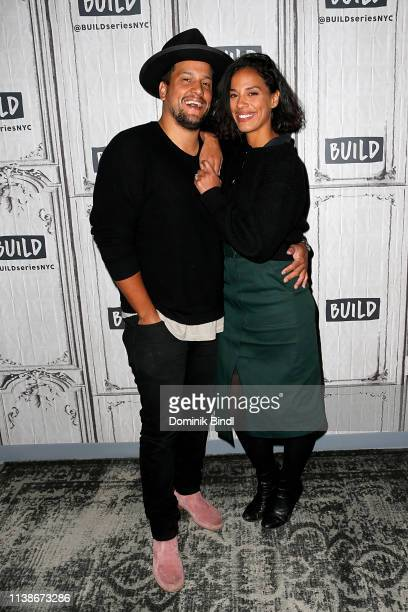 Abner Ramirez and Amanda Sudando of Johnnyswim attend the Build Series to discuss 'Moonlight' at Build Studio on March 27 2019 in New York City