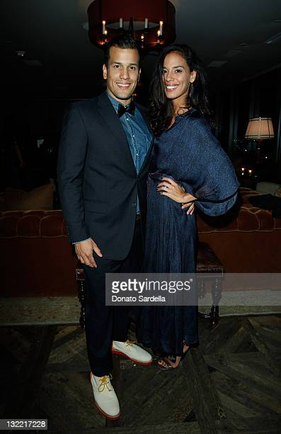 Abner Ramirez and Amanda Sudano attend Lisa Love And Tommy Hilfiger Host A Night Of Cocktails And Dancing With A Musical Performance By Johnnyswim at...