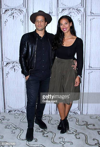 Abner Ramirez and Amanda Sudano of JohnnySwim appear to promote 'Georgica Pond' during the AOL BUILD Series at AOL HQ on October 10 2016 in New York...