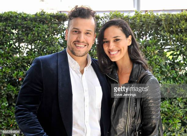 Abner Ramirez and Amanda Sudano of Johnnyswim attend Day 4 of the 3rd Annual Yountville Live Music Food Wine Festival on March 19 2017 in Yountville...