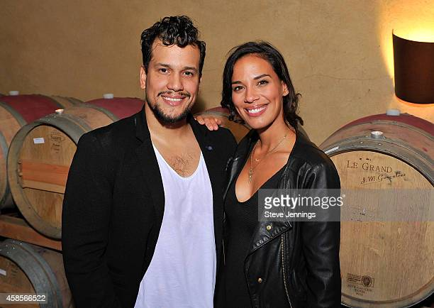 Abner Ramirez and Amanda Sudano of Johnnyswim attend Live In The Vineyard on Day 1 at Spring Mountain Vineyard for music food and wine on November 6...
