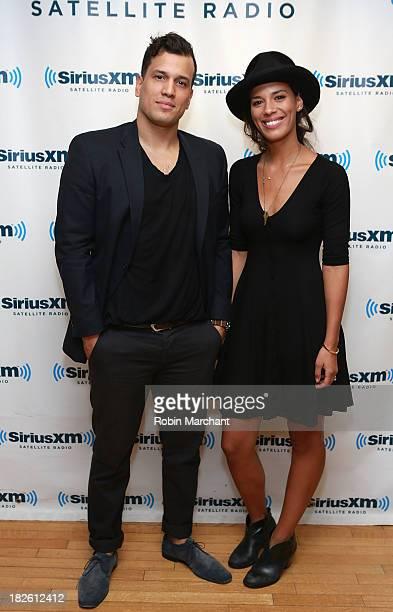 Abner Ramirez and Amanda Sudano of Johnnyswim visit at SiriusXM Studios on October 1 2013 in New York City