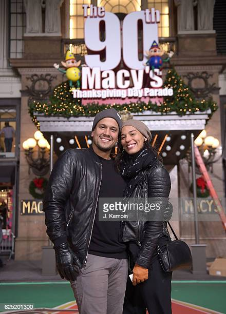 Abner Ramirez and Amanda Sudano of the band Johnnyswim attend the 90th Anniversary Macy's Thanksgiving Day Parade Rehearsals Day 2 at Macy's Herald...