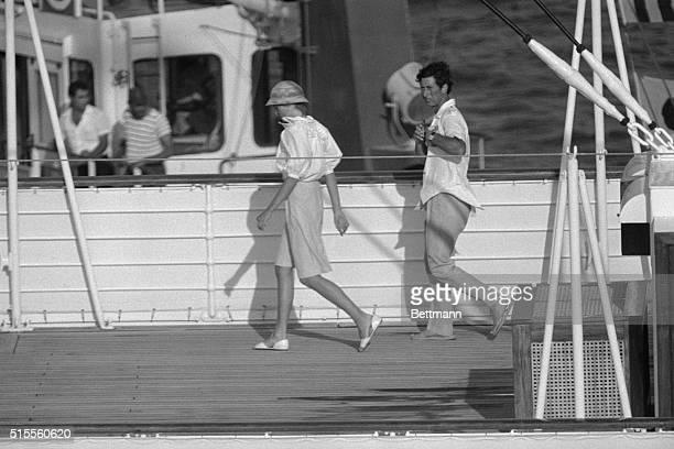 Aboard the Britannia yacht