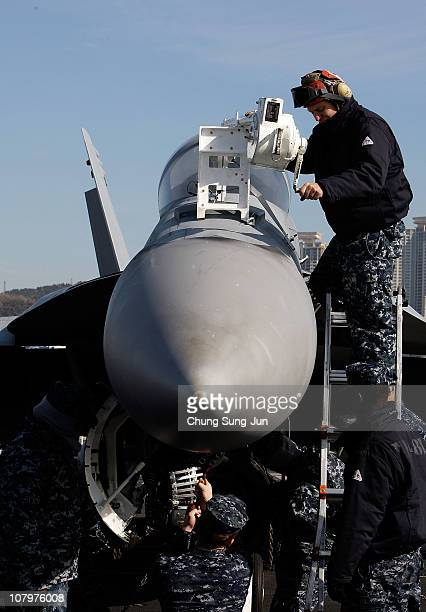YYY aboard the USS Carl Vinson on January 11 2011 in Busan The USS Carl Vinson arrived in South Korea after participating in drills in East China Sea...