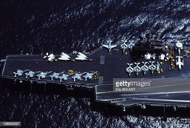 Aboard the USS independence aircraft carrier in the Persian gulf in Saudi Arabia in Saudi Arabia on September 09th 1990