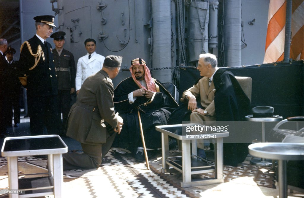 Ibn Saud & FDR Meet In Egypt : News Photo