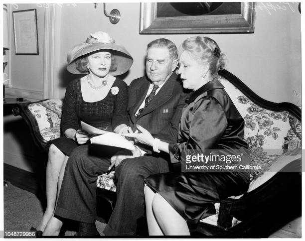 Abolish Federal Income Tax for Individuals 7 April 1960 Miss Corinne GriffithHubbard RussellMiss Mary PickfordCaption slip reads 'Date Reporter...