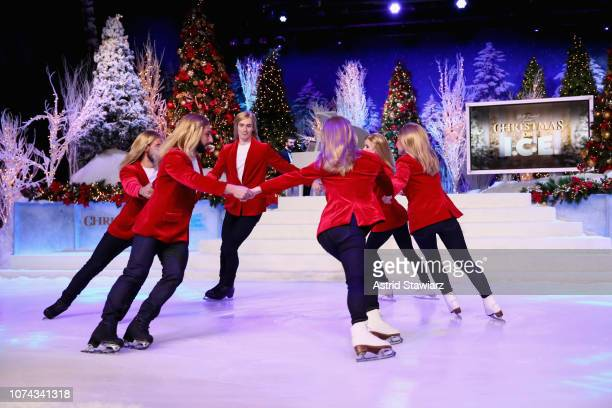 Abolish ICE Skaters perform during Full Frontal With Samantha Bee Presents Christmas On ICE at PlayStation Theater on December 17 2018 in New York...