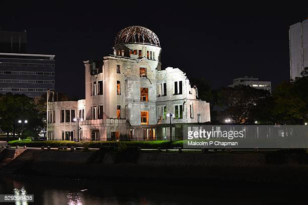 A-Bomb (Genbaku) Dome, at night, Hiroshima, Japan