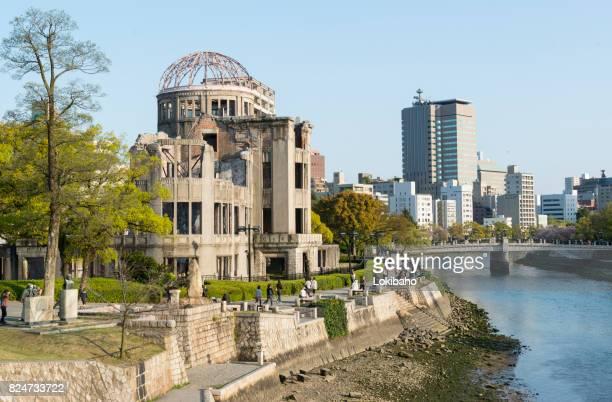 a-bomb dome paz de hiroshima comemorativo - hiroshima - fotografias e filmes do acervo