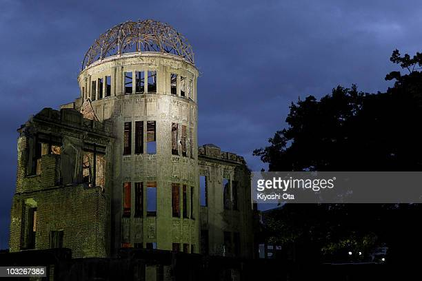 Bomb Dome is seen near Hiroshima Peace Memorial Park on August 5 2010 in Hiroshima Japan on the eve of the 65th anniversary of the Hiroshima atomic...