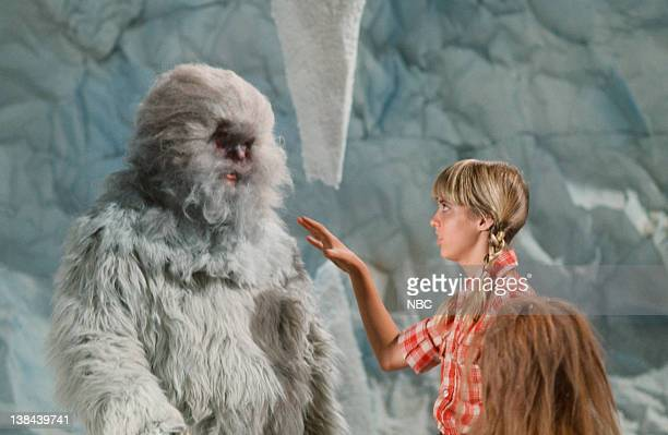 LOST 'Abominable Snowman' Episode 9 Aired Pictured Jon Locke as Abominable Snowman Kathy Coleman as Holly Marshall