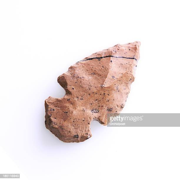 aboriginal arrowhead - flint tool stock photos and pictures