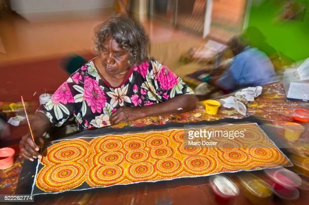 Aboriginal artist in Alice Springs