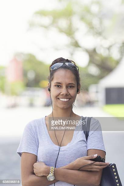 Aboriginal Australian woman portrait