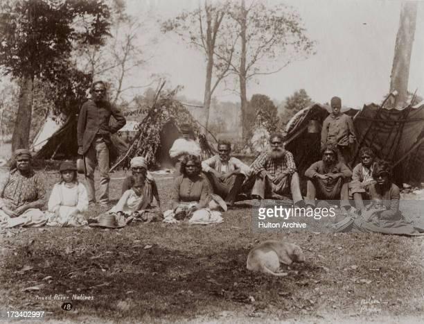 Aboriginal Australians on the Tweed River New South Wales Australia circa 1880