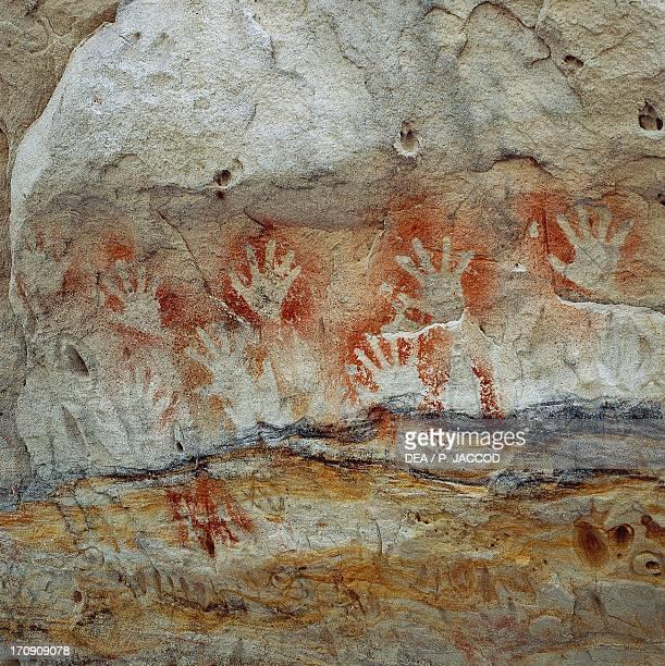 Aboriginal cave paintings, Carnarvon National Park, Queensland, Australia.