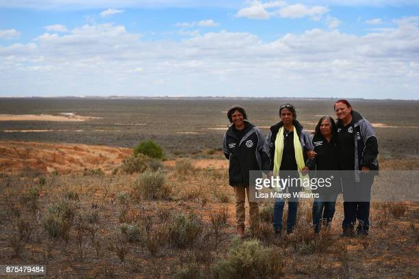 Aboriginal Elders Patsy Winch Maureen ReylandKelly Mary Pappin and Coral Ellis of the Mutthi utthi and Ngiyampaa peoples look out across the Lake...