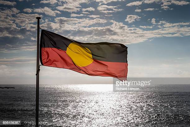 Aboriginal flag at Bondi Beach