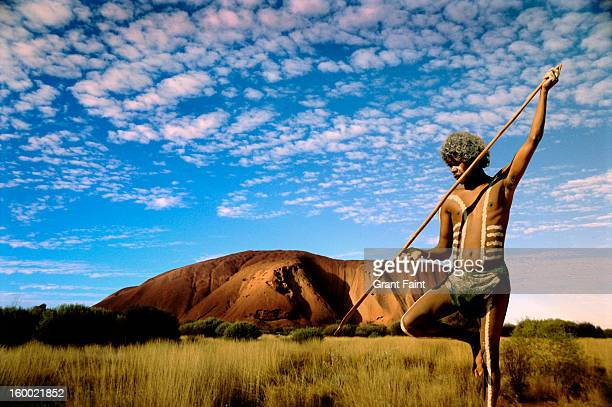 Aboriginal  in outback.