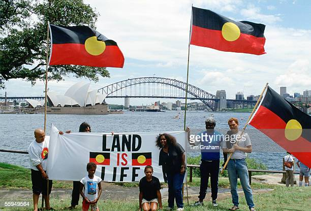 Aboriginal Land Rights Protest on Bicentennial Day Sydney Australia