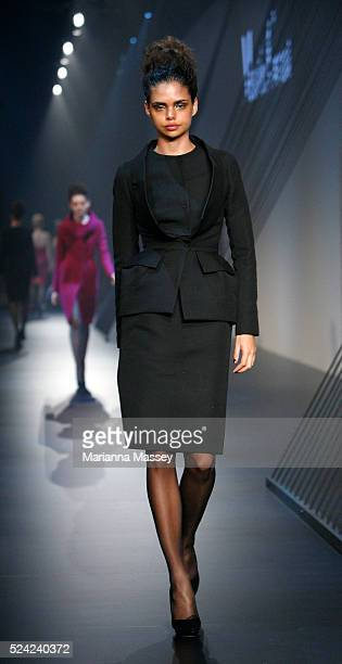 Aboriginal model Samantha Harris on the runway at the Martin Grant Fall/Winter 2010 show during the L'Oreal Paris Runway 6 presented by Harper's...
