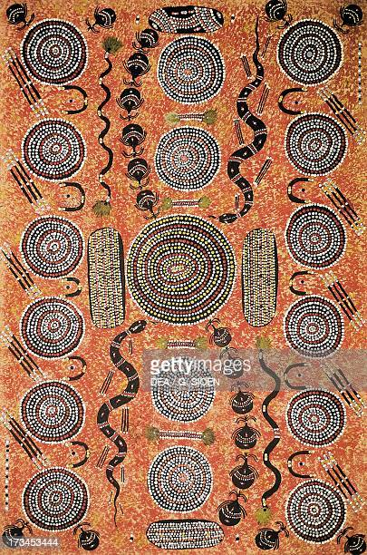 Aboriginal painting art gallery Alice Springs Australia