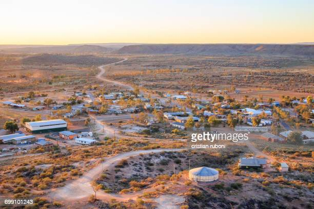 aboriginal reserve, alice springs, australia - town stock pictures, royalty-free photos & images