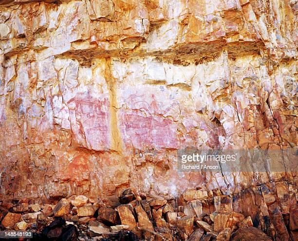 Aboriginal rock art in Katherine Gorge.