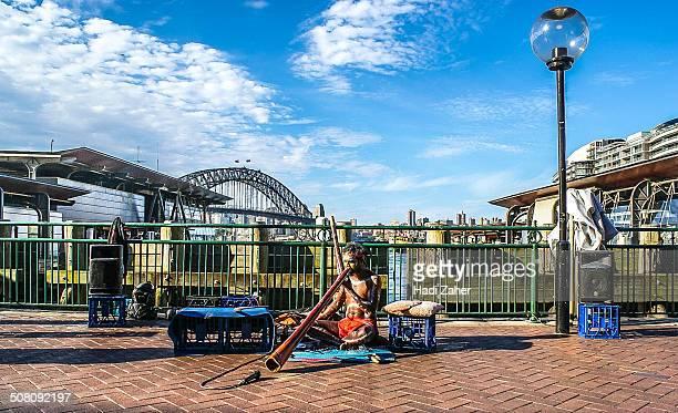 CONTENT] Aboriginal Street Performer at Circular Quay Sydney