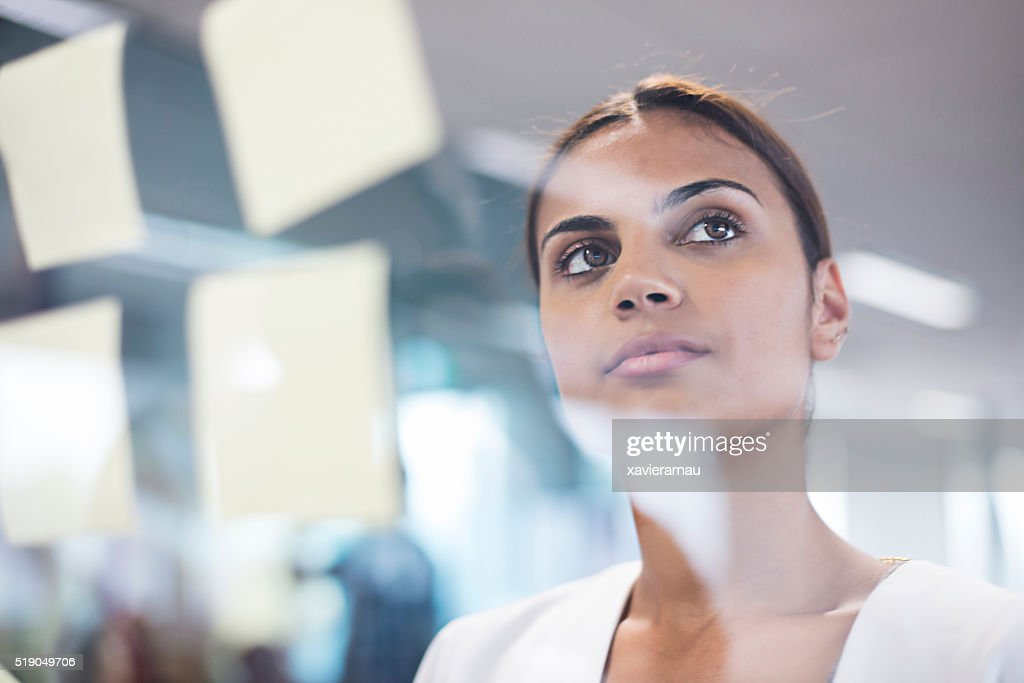 Aboriginal woman thinking about new ideas : Stock Photo