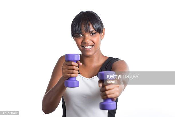 Aboriginal Woman Working Out