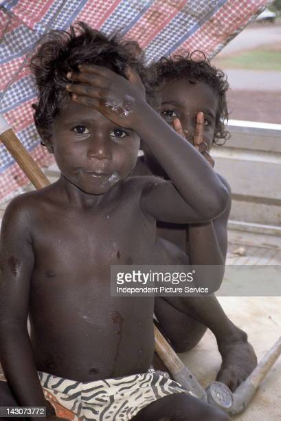 Aborigine children Tiwi Islands Australia