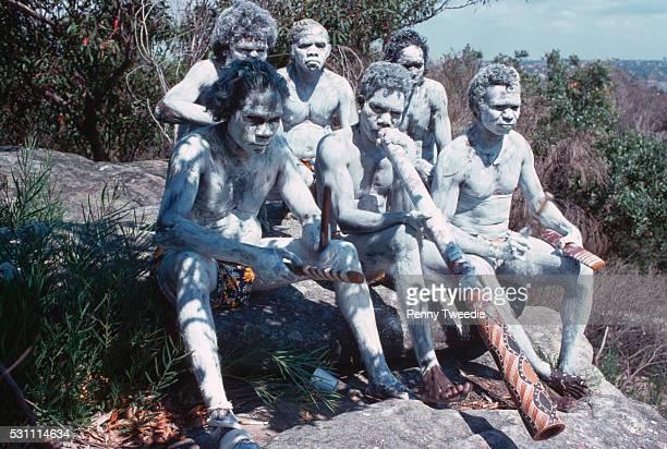Aborigine Plays Didgeridoo