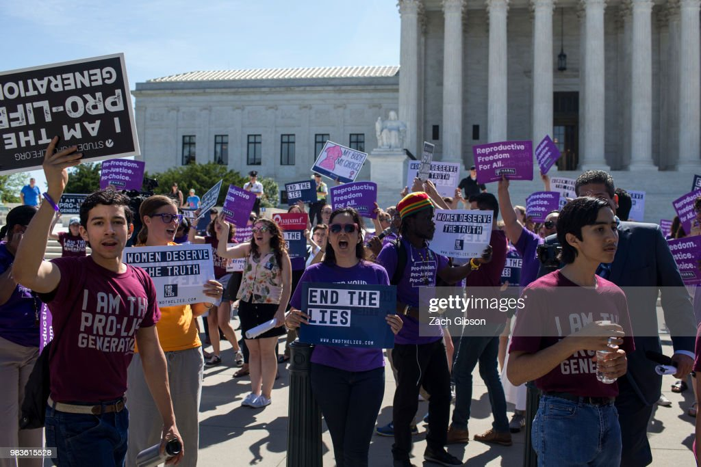 Anti-Abortion Demonstrators Rally At U.S. Supreme Court