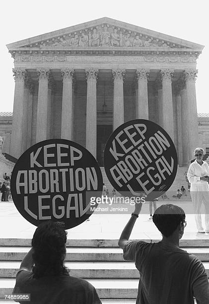 ABORTIONAbortion advocates rally outside the US Supreme Court