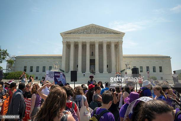 Abortion-rights supporters outside US Supreme Court
