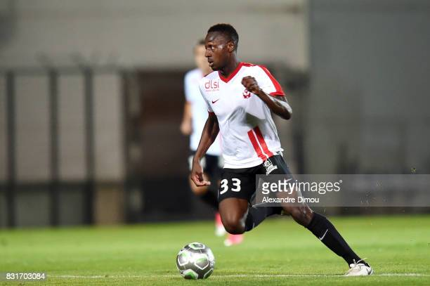 Abou Ba of Nancy during the Ligue 2 match between Nimes Olympique and As Nancy Lorraine at Stade des Costieres on August 14 2017 in Nimes