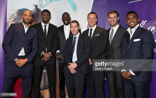 Abou Diabg Diomansy KamaraDemba Ba Eden Hazard John Terry Samuel Eto'o and Branoslav Ivanovich attending The Human Appeal Celebrity Football Gala...
