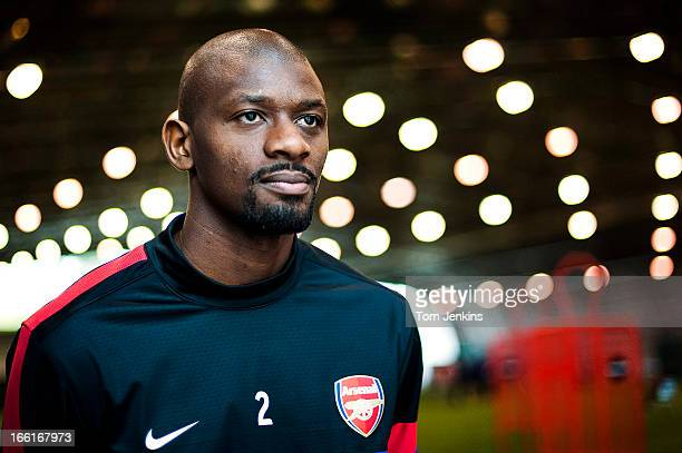 Abou Diaby Arsenal footballer during a portrait session at the Arsenal training centre London Colney Hertfordshire on September 20 2012