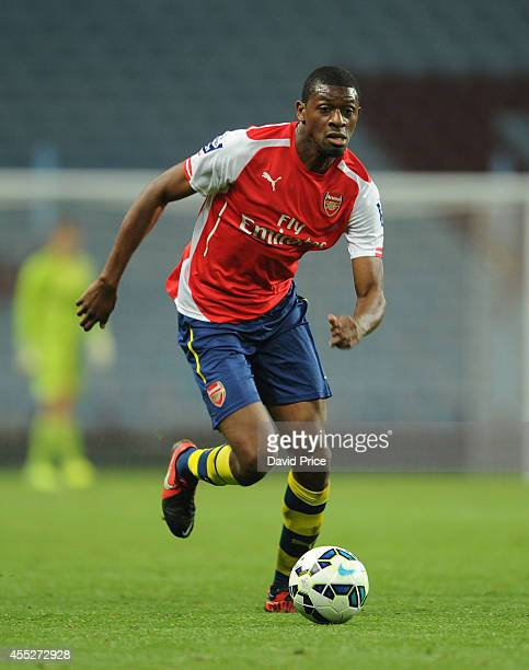 Abou Diaby of Arsenal during the Barclays U21 Premier League match between Aston Villa and Arsenal at Villa Park on September 11 2014 in Birmingham...