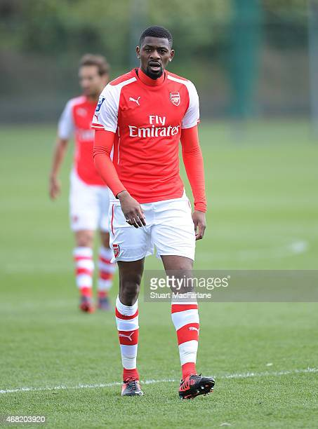 Abou Diaby of Arsenal during the friendly match between Arsenal and Brentford at London Colney on March 31 2015 in St Albans England