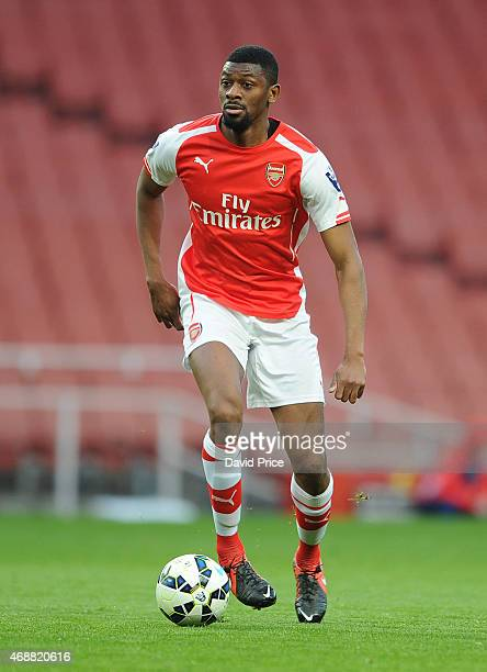 Abou Diaby of Arsenal during the match between Arsenal U21 and Stoke City U21 at Emirates Stadium on April 7 2015 in London England