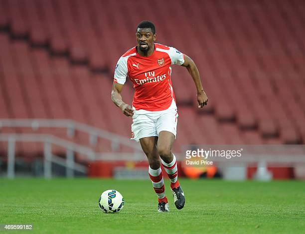 Abou Diaby of Arsenal during the match between Arsenal U21 and Reading U21 in the Barclays Premier U21 League at Emirates Stadium on April 13 2015 in...