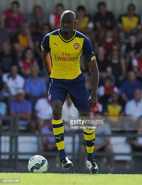 Abou Diaby of Arsenal during the pre season match between Borehamwood and Arsenal at Meadow Park on July 19 2014 in Borehamwood England