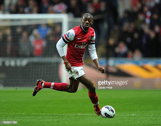 Abou Diaby of Arsenal during the Premier League match between Swansea City and Arsenal at Liberty Stadium on March 16 2013 in Swansea Wales