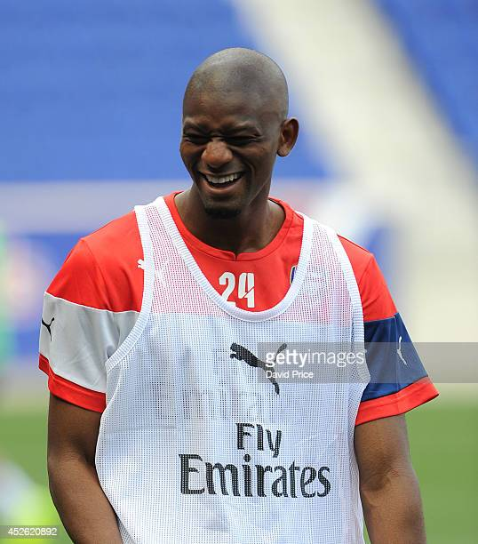 Abou Diaby of Arsenal during the Training Session at Red Bull Arena on July 24 2014 in Harrison New Jersey
