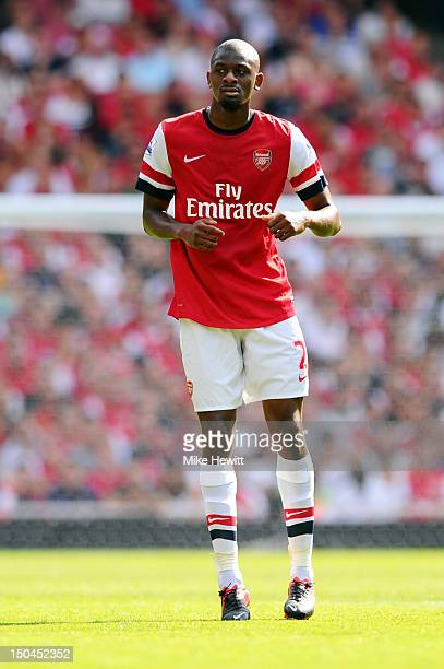 Abou Diaby of Arsenal in action during the Barclays Premier League match between Arsenal and Sunderland at Emirates Stadium on August 18 2012 in...