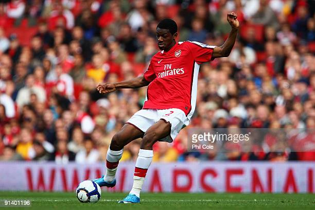 Abou Diaby of Arsenal in action during the Barclays Premier League match between Arsenal and Blackburn Rovers at Emirates Stadium on October 4 2009...